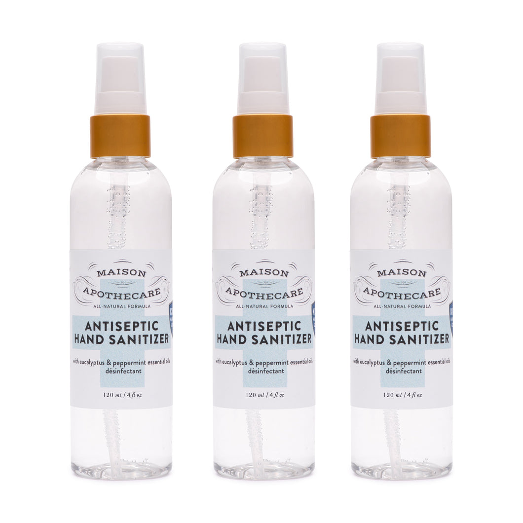 Antiseptic Hand Sanitizer (120ml) - Family 3 Pack