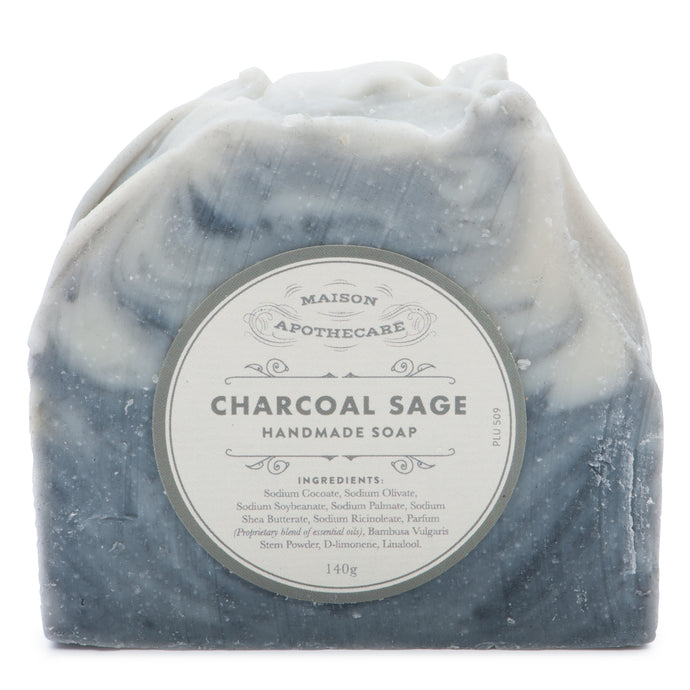 Handmade Soap Bar - Charcoal Sage