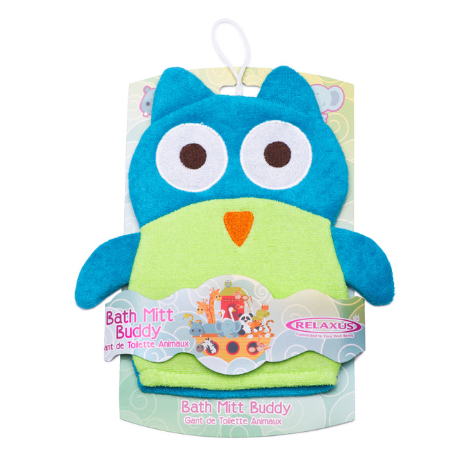 Sleepy Owl Bath Mitt