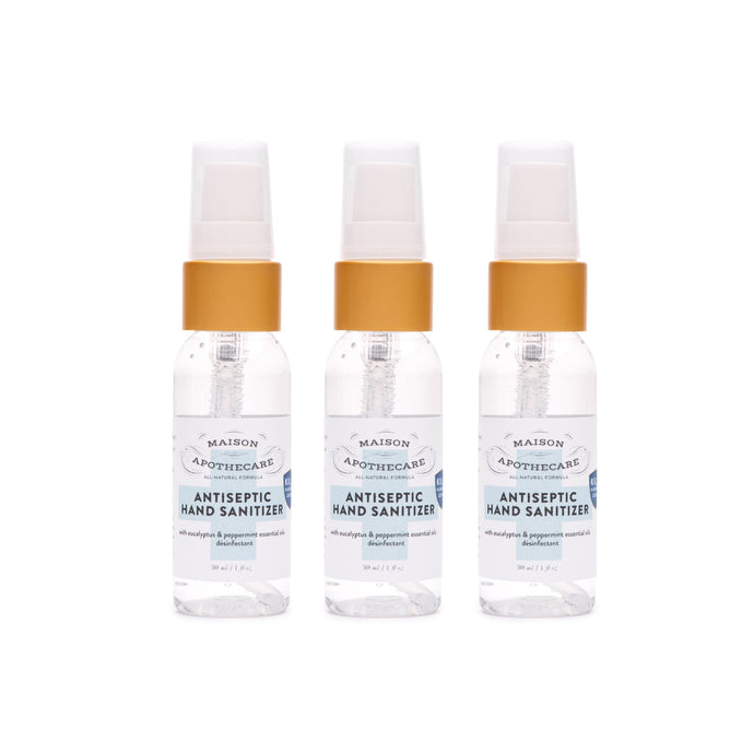 Mini Antiseptic Hand Sanitizer (30ml) - 3 Pack