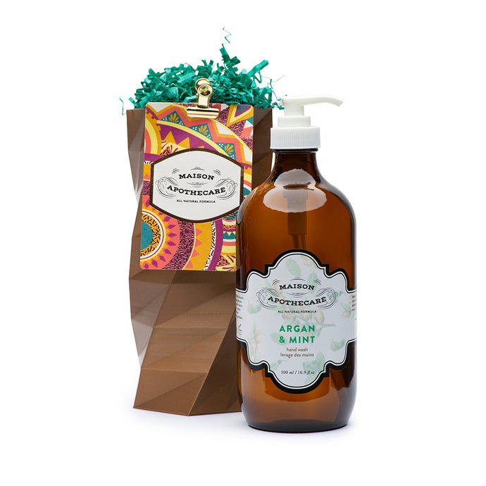 Hand Wash - Argan & Mint With Vase