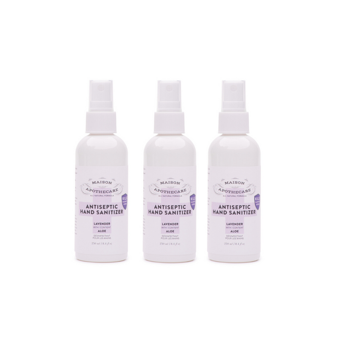 Antiseptic Hand Sanitizer - Lavender (100ml) - Family 3 Pack