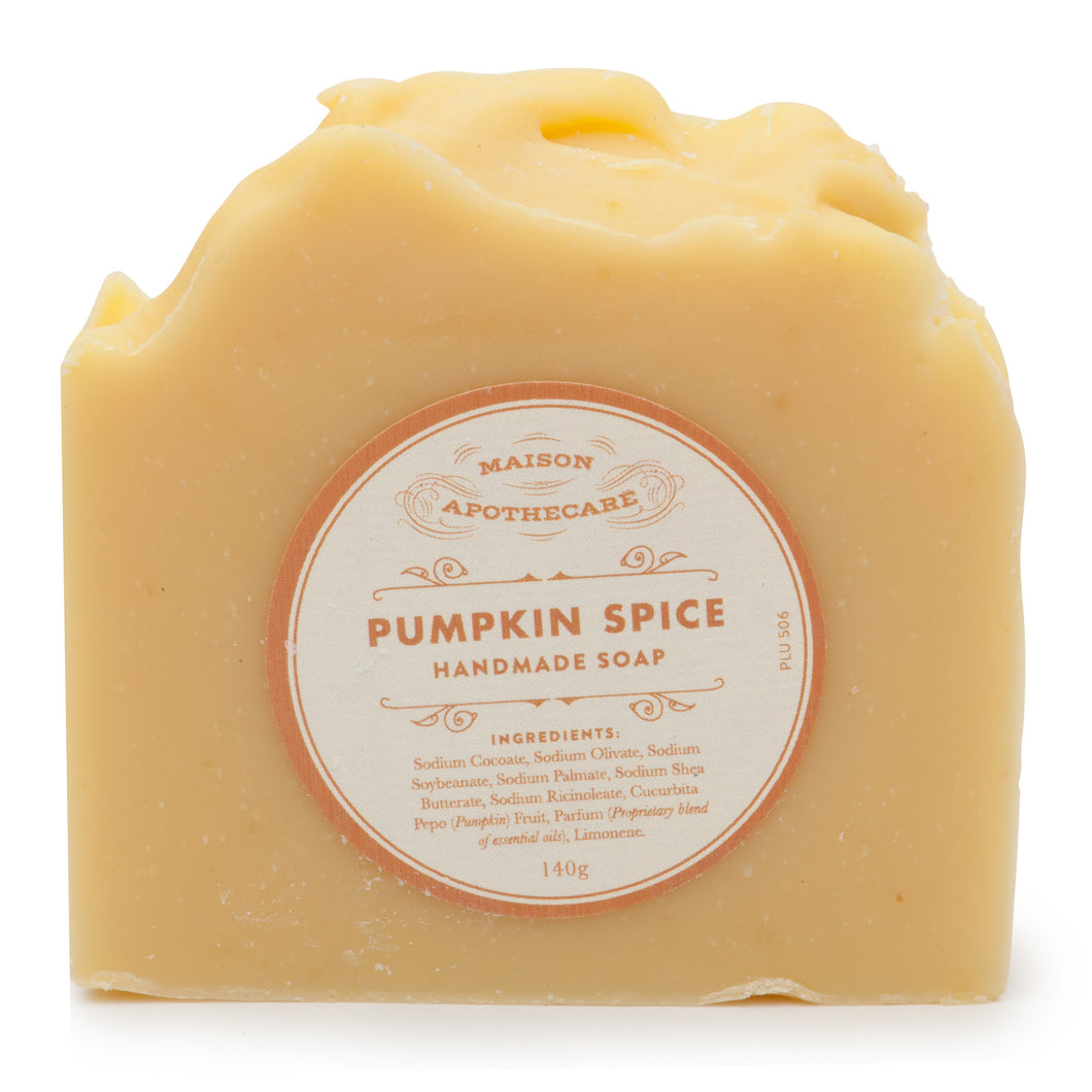 Pumpkin Spice Handmade Soap Bar