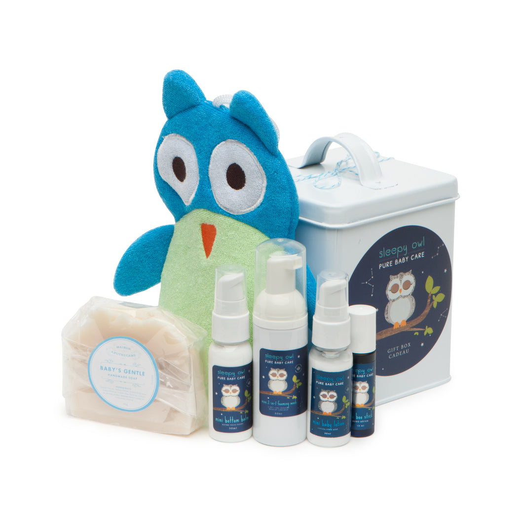 Sleepy Owl Baby Gift Set