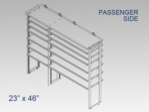 "Passenger Side Alum. Kit -  23"" x 46"""