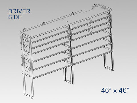 "Driver Side Alum. Kit - 46"" x 46"""