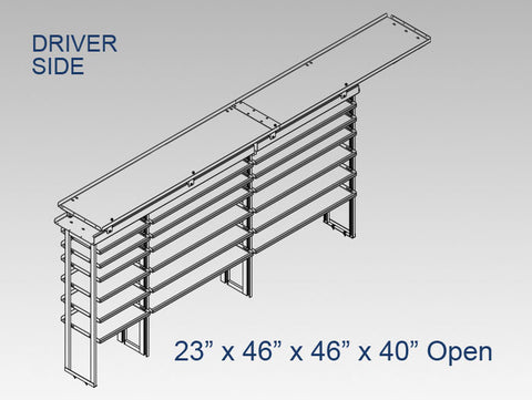"Driver Side Alum. Kit - 23"" x 46"" x 46"" x 40"" Open (OEM Bulkhead)"