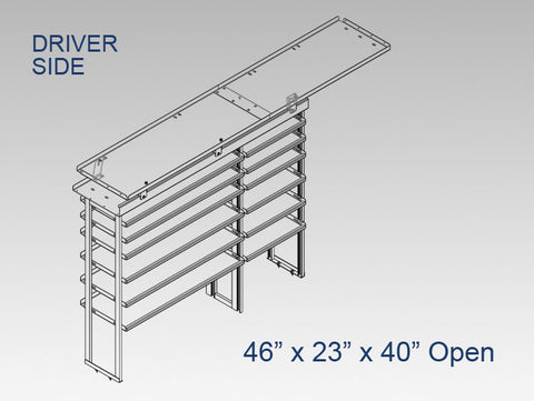 "Driver Side Alum. Kit - 46"" x 23"" x 40"" Open (OEM Bulkhead)"