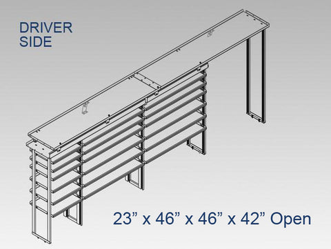"Driver Side Alum. Kit - 23"" x 46"" x 46""x 42"" Open"