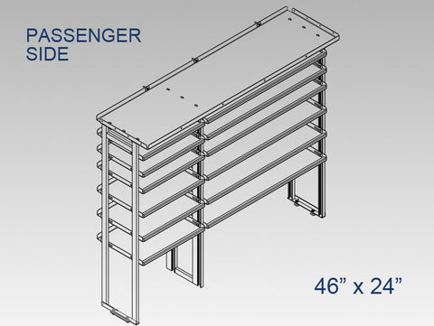"Passenger Side Alum. Kit -  46"" x 24"""