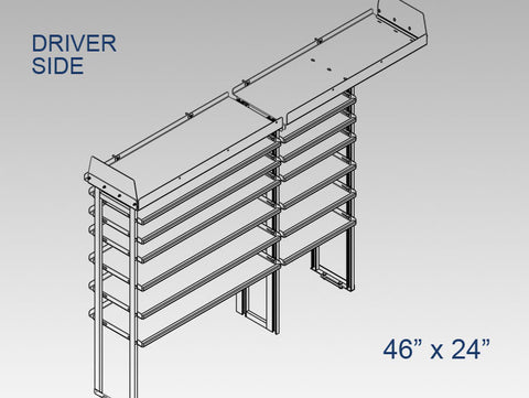 "Driver Side Alum. Kit - 46"" x 24"""