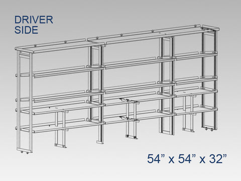 "Driver Side Alum. Kit - 54"" x 54"" x 32"" - Vending"