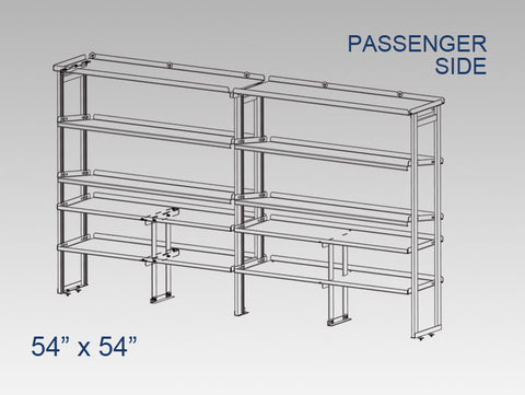 "Passenger Side Alum. Kit - 54"" x 54"" - Vending"