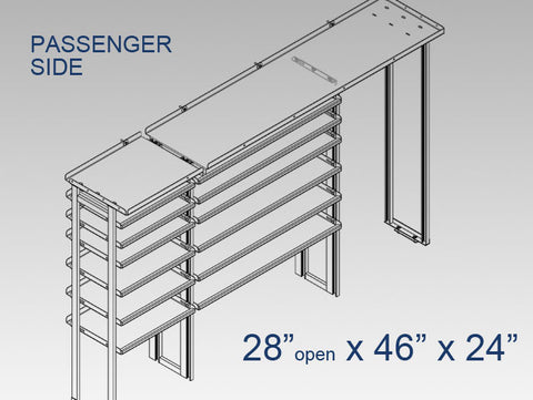 "Passenger Side Alum. Kit -  28"" open x 46"" x 24"""