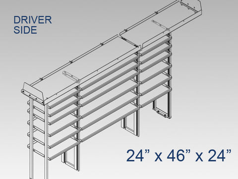 "Driver Side Alum. Kit - 24"" x 46"" x 24"""