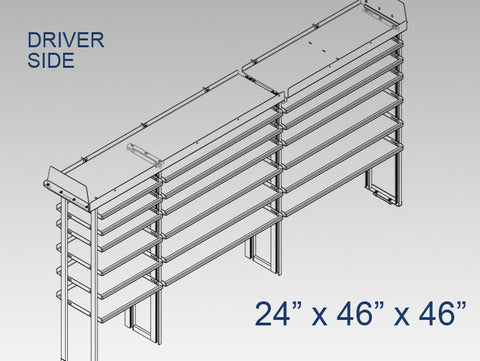 "Driver Side Alum. Kit - 24"" x 46"" x 46"""