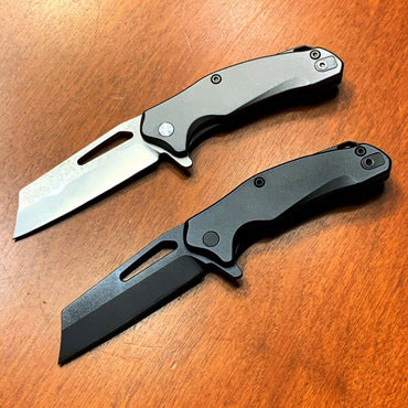 Bastion Braza Mini D2 CLEAVER - Sharp enough to slice off a finger, small enough for your pocket