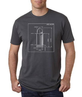 T-Shirt- .45 ACP Schematics Navy Blue