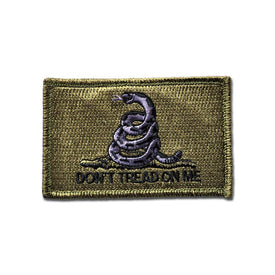 Embroidered Morale Patch - Dont Tread On Me - Choose Color