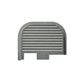 Rear Slide Plate For Glock 42 - Silver Ridge Serrations
