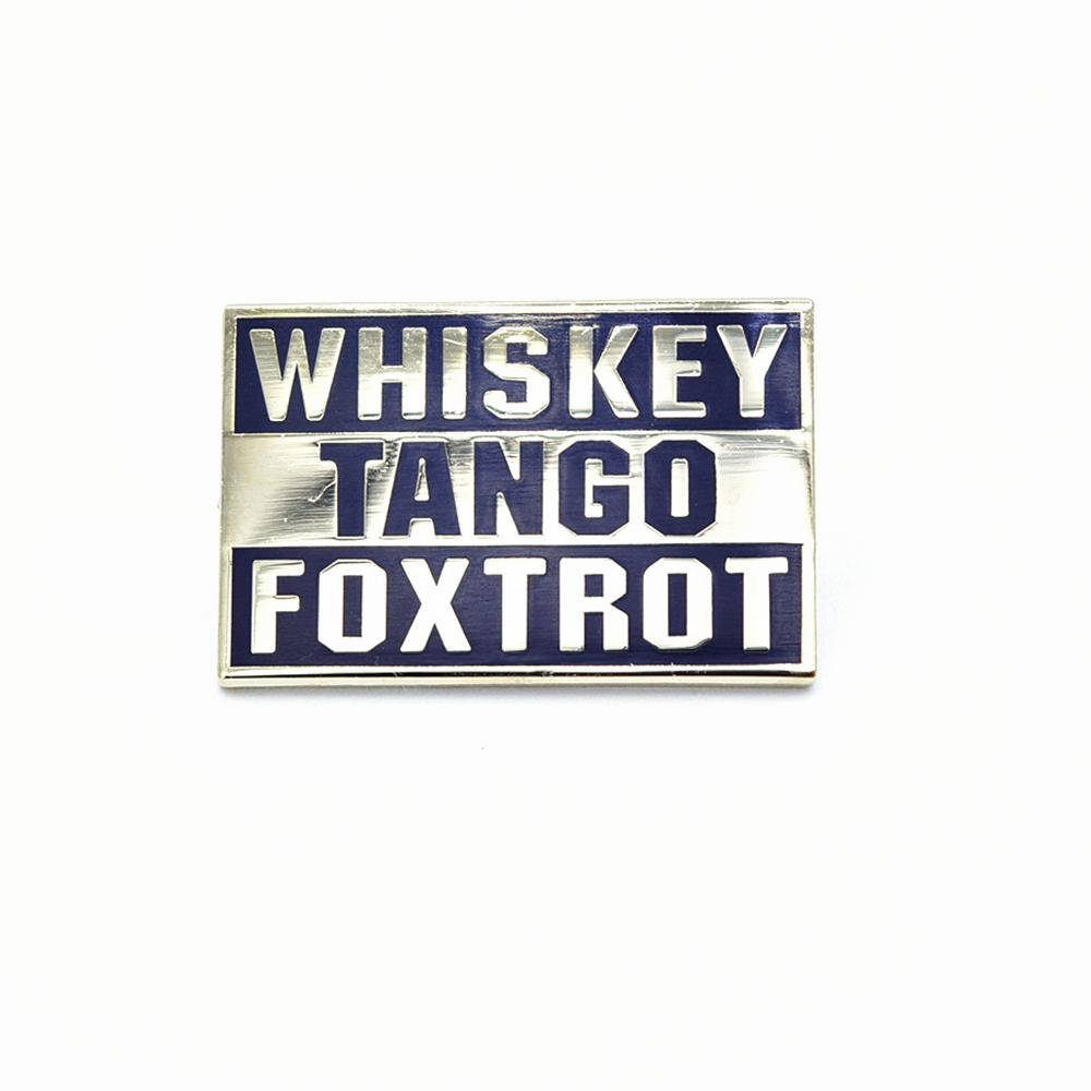 Bastion Morale Lapel Pin Whiskey Tango Foxtrot Black