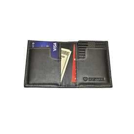 Pure Carbon Fiber And Leather Folding Card Wallet