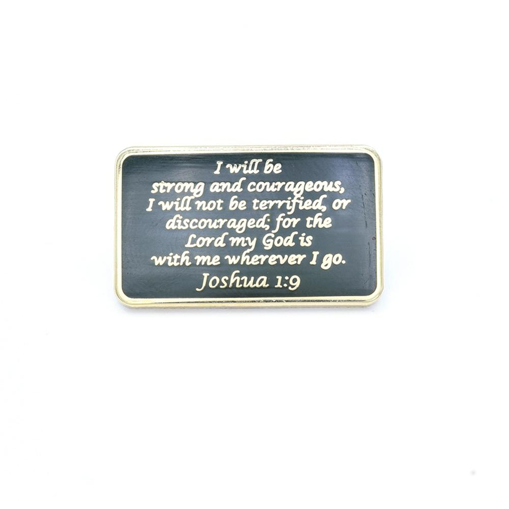 Bastion Morale Lapel Pin Joshua 1:9 ODG