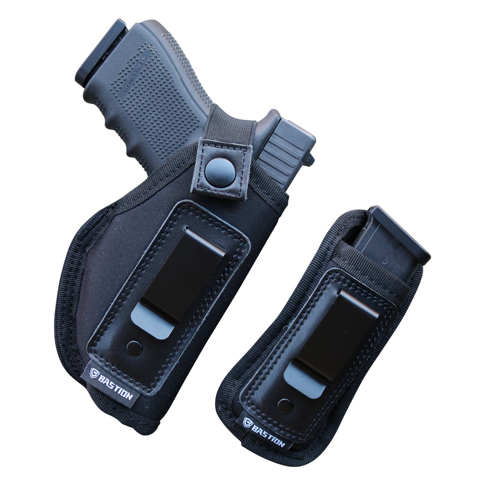 BASTION Belly Band Holster for Concealed Carry | Pistol or Revolver Waistband Handgun Carrying System for Men and Women | Fits Glock 19 43 26 Smith and Wesson MP Shield Bodyguard Ruger LC9 Sig and More | Carry IWB OWB Appendix