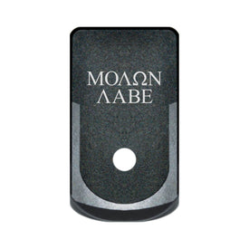 Extended Magazine Base Plate For Glock 43 - Molon Labe Text