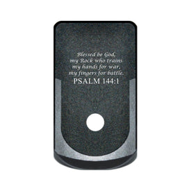 Extended Magazine Base Plate For Glock 43 - Psalm 144:1