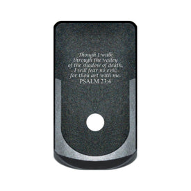 Extended Magazine Base Plate For Glock 43 - Psalm 23:4