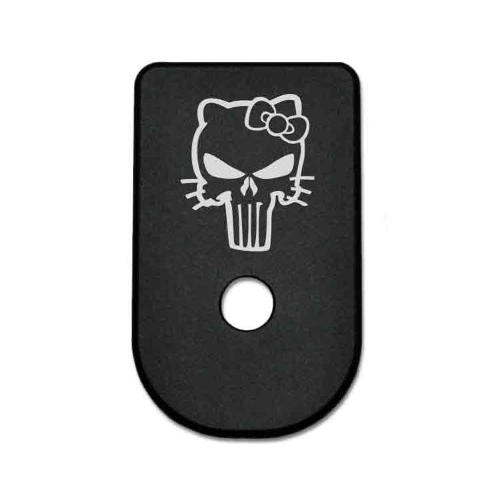 Magazine Base Plate For Glock 42 - Hello Kitty Skull