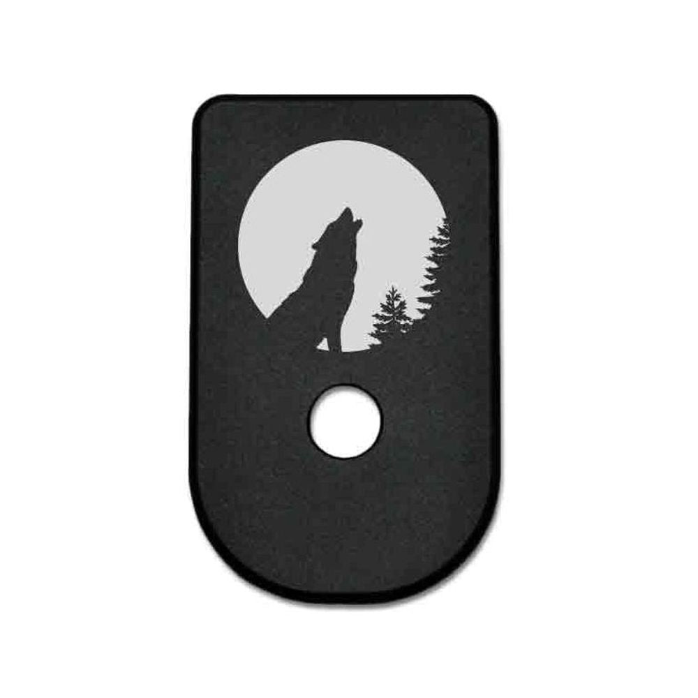 Magazine Base Plate For Glock 42 - Howling Wolf