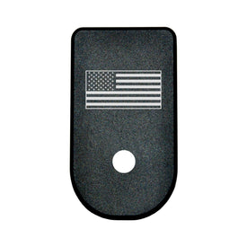 Bastion Laser Engraved Aluminum Floor Base Plate For Glock 43 G43 - USA Flag