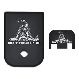 Magazine Base And Slide Back Plate Combo For Glock 9mm .40 Cal - Dont Tread On Me