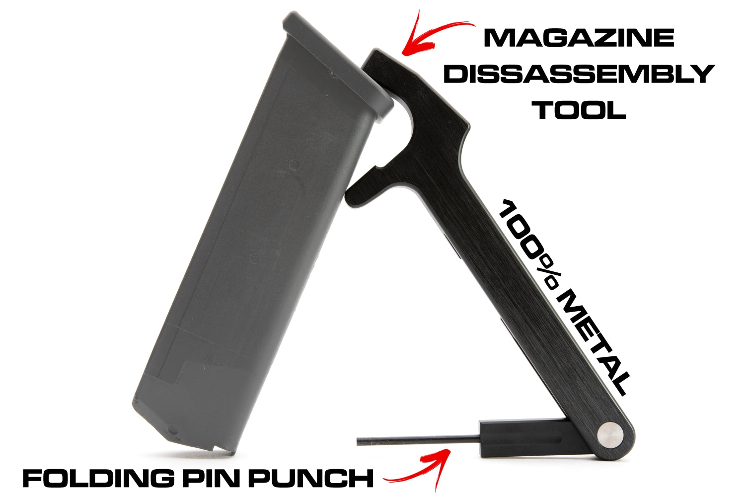MFBA Magazine Disassembly and Pin Punch Combo Tool