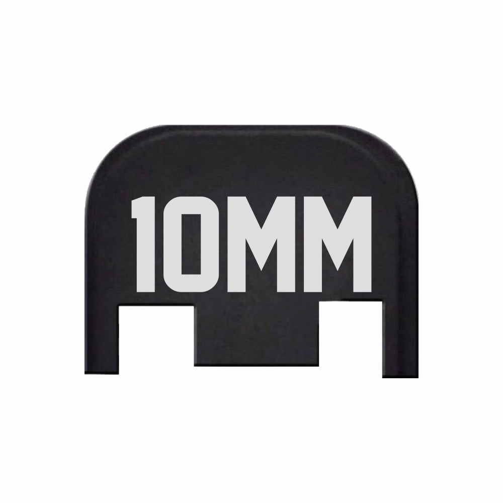 10mm Number - For Glock Models 17-41 & 45 - Rear Slide Back Plates