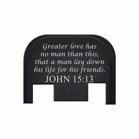 John 15:13 - For Glock Models 17-41 & 45 - Rear Slide Back Plates