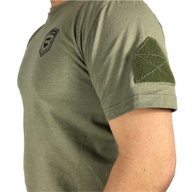 T-Shirt BASTION Logo and Arm Patch - Green and Black