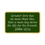 Bastion Morale Lapel Enamel Pin John 15:13 - Choose Color
