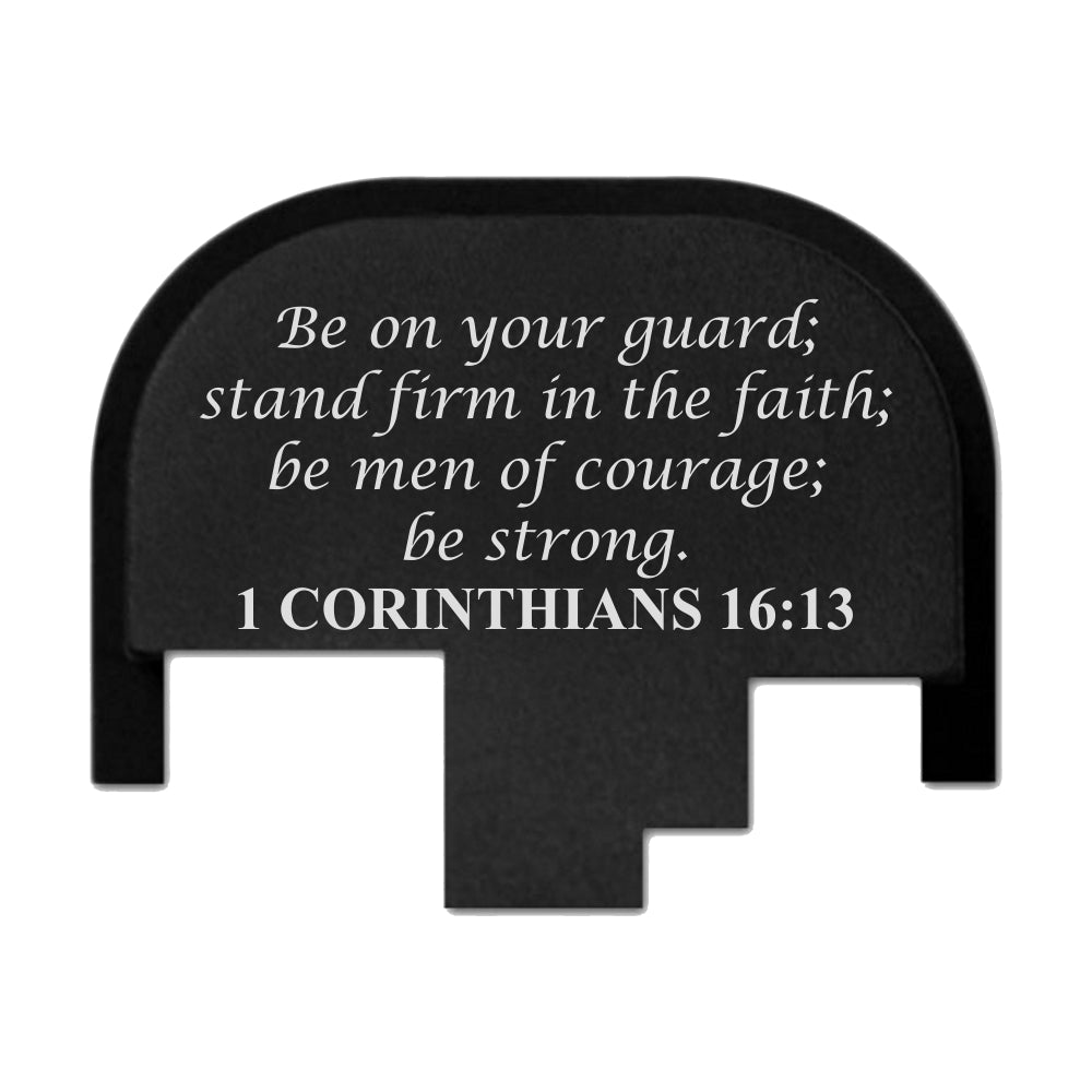 Corinthians 16:13 - FULL SIZE S&W M&P9/40/45 M2.0 - Rear Slide Back Plate