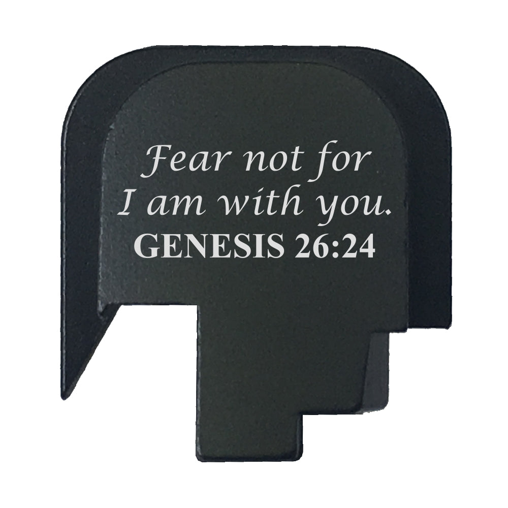 Scriptures - S&W M&P45 SHIELD SUBCOMPACT - Choose your design, Rear Slide Back Plate
