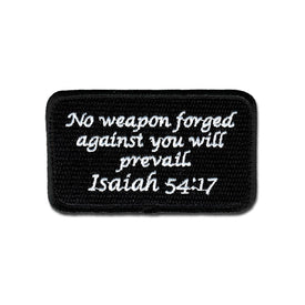 Embroidered Morale Patch - Isaiah 54:17 - Choose Color