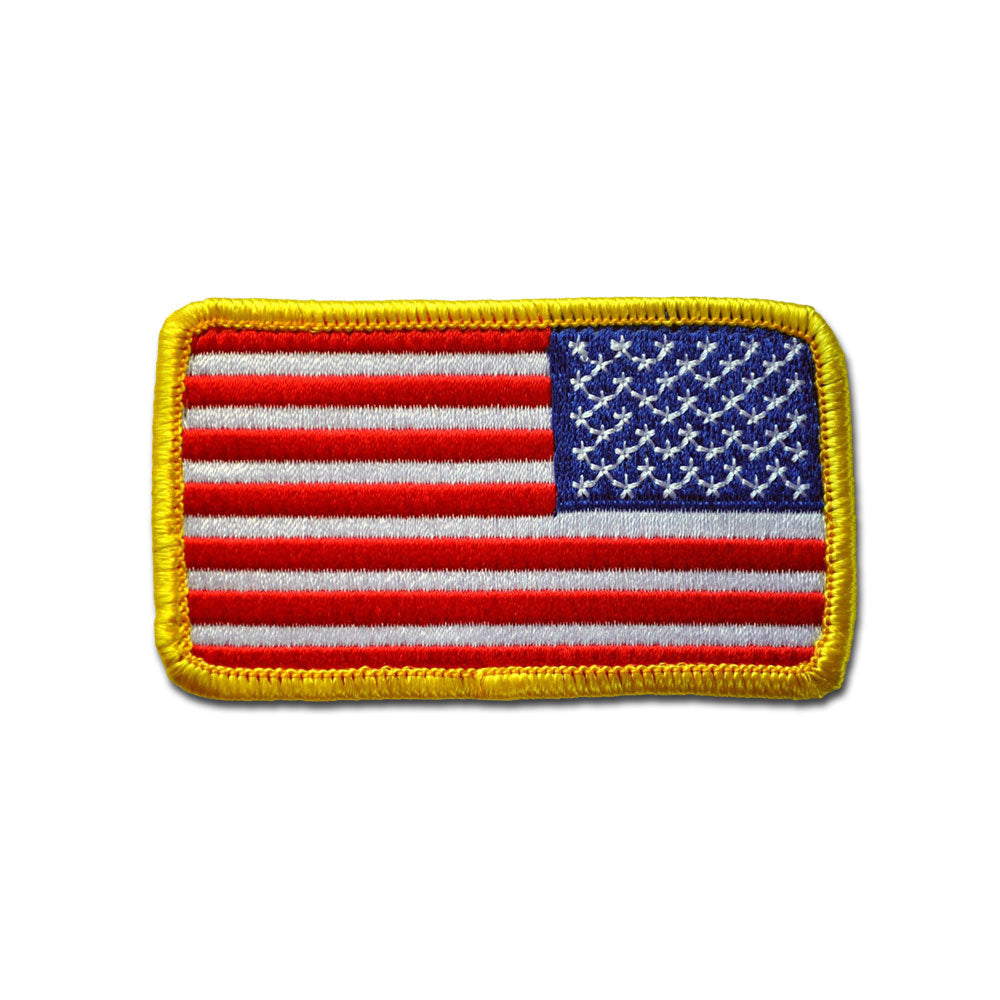 USA Flag Reverse Stars - Choose Color - Embroidered Morale Patch