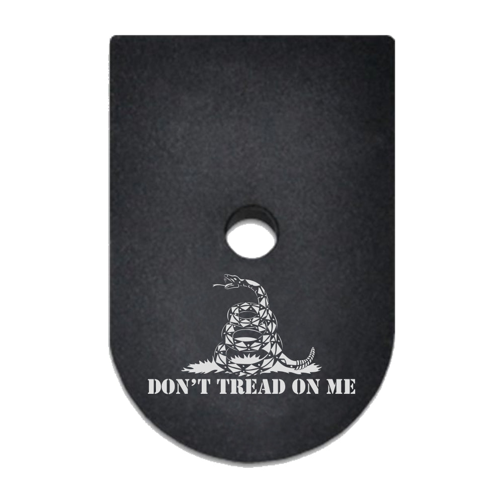 Don't Tread On Me Gadsden Flag laser engraved on a magazine base plate for Springfield XD 9mm/40cal
