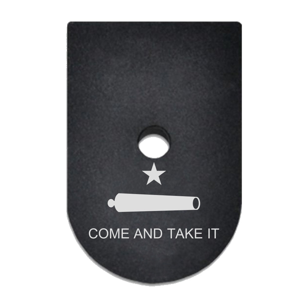 Come And Take It Flag laser engraved on a magazine base plate for Springfield XD 45 ACP