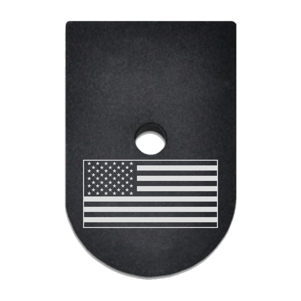 USA Flag laser engraved on a magazine base plate for Springfield XD 9mm/40cal