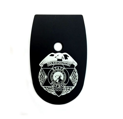 Washington State Patrol Mag Base Plate for SW MP 9MM or .40 - Round Hole
