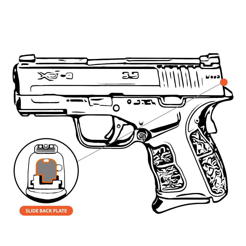 Philippians 4:13 - Springfield XD-S Mod.2 9mm/40Cal, Rear Slide Back Plate