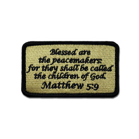 Embroidered Morale Patch - Matthew 5:9 - Choose Color